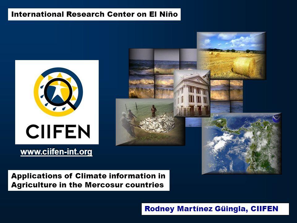 Los objetivos de esta presentación: Analizar la generación de Servicios de Información y Predicción Climática en contraste con las demandas del sector Agrícola.
