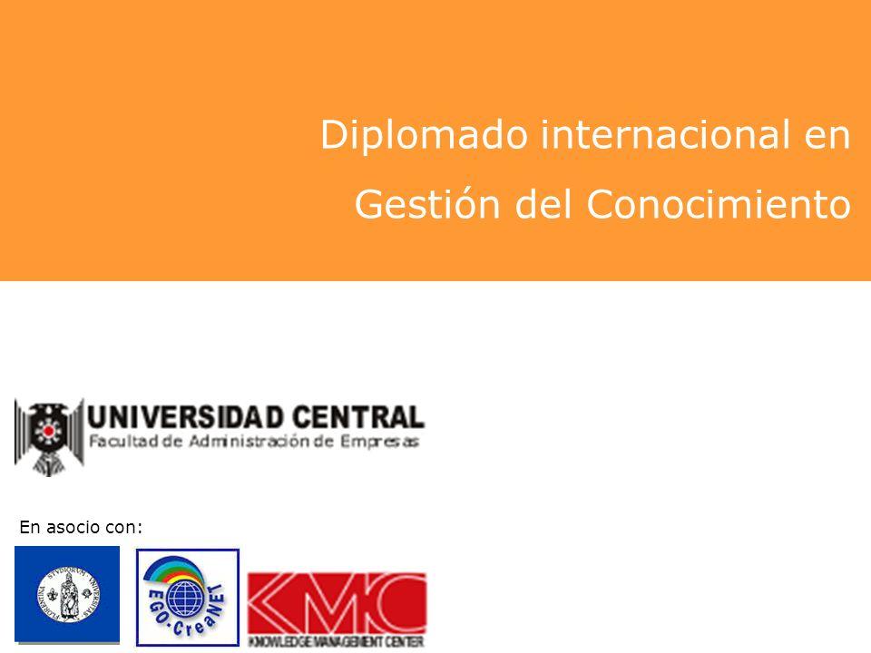 Diplomado internacional en Gestión del Conocimiento En asocio con: