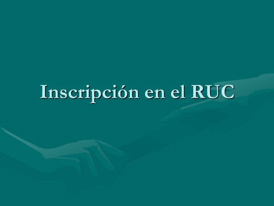 Inscripción en el RUC