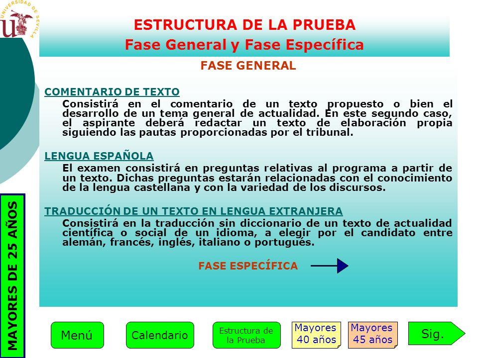FASE GENERAL COMENTARIO DE TEXTO Consistirá en el comentario de un texto propuesto o bien el desarrollo de un tema general de actualidad. En este segu