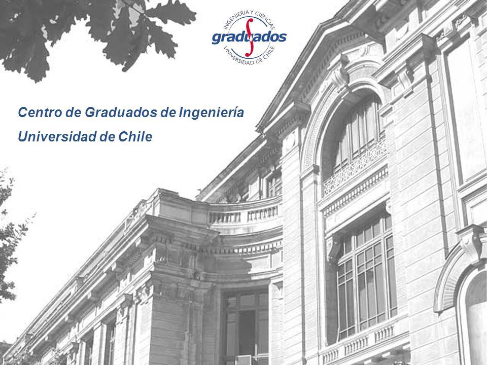 Centro de Graduados de Ingeniería Universidad de Chile