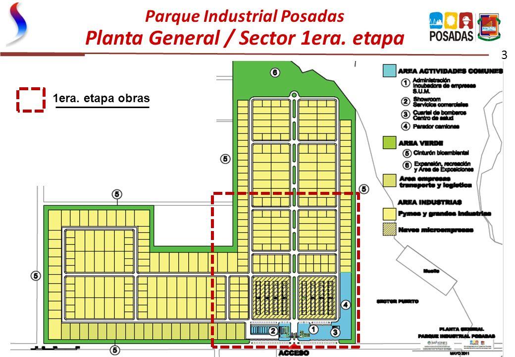 Parque Industrial Posadas Planta General / Sector 1era. etapa 3 1era. etapa obras