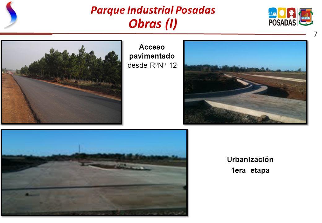 Parque Industrial Posadas Obras (I) 7 Urbanización 1era etapa Acceso pavimentado desde R°N° 12