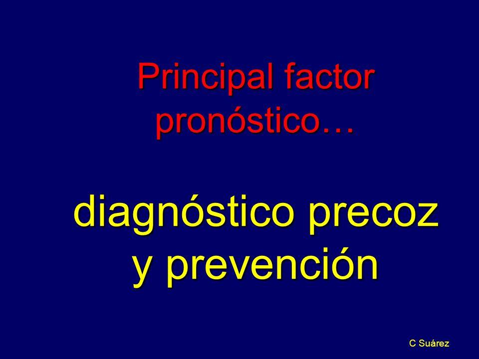 C Suárez Principal factor pronóstico… diagnóstico precoz y prevención