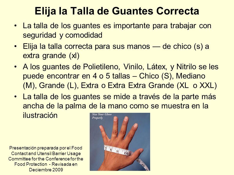 Elija la Talla de Guantes Correcta La talla de los guantes es importante para trabajar con seguridad y comodidad Elija la talla correcta para sus mano