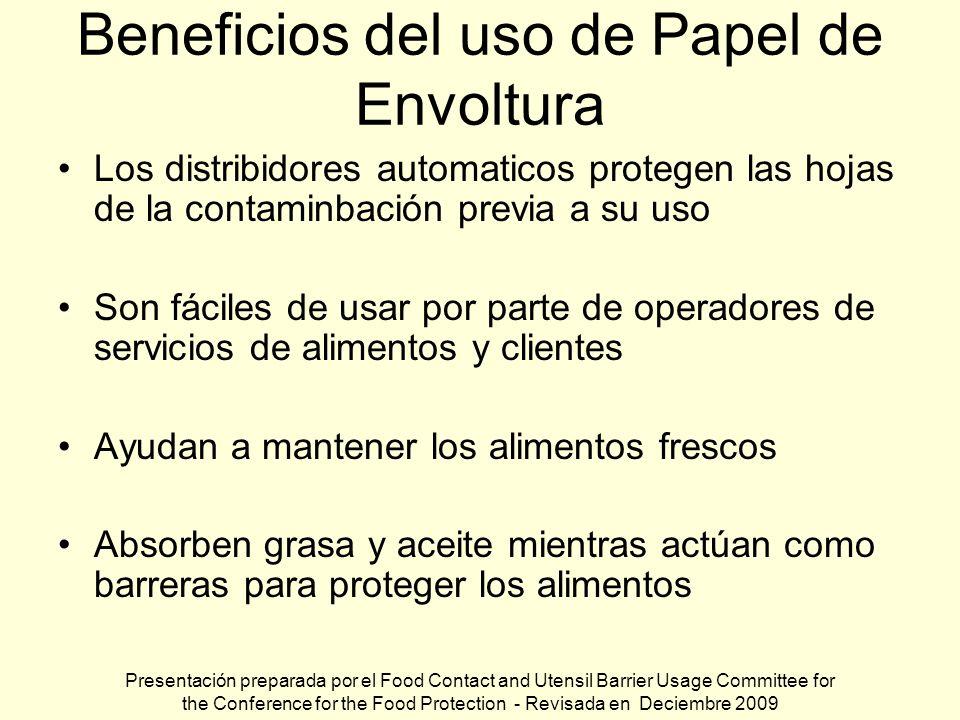 Beneficios del uso de Papel de Envoltura Los distribidores automaticos protegen las hojas de la contaminbación previa a su uso Son fáciles de usar por