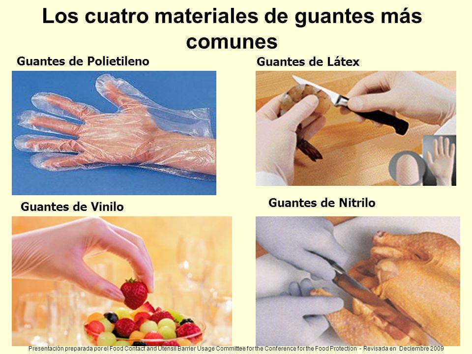 Guantes de Polietileno Guantes de Vinilo Guantes de Látex Guantes de Nitrilo Los cuatro materiales de guantes más comunes Presentación preparada por e