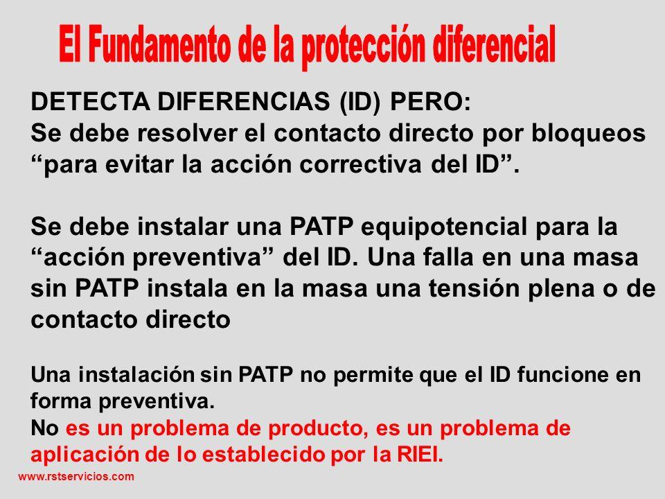 DETECTA DIFERENCIAS (ID) PERO: Se debe resolver el contacto directo por bloqueos para evitar la acción correctiva del ID.
