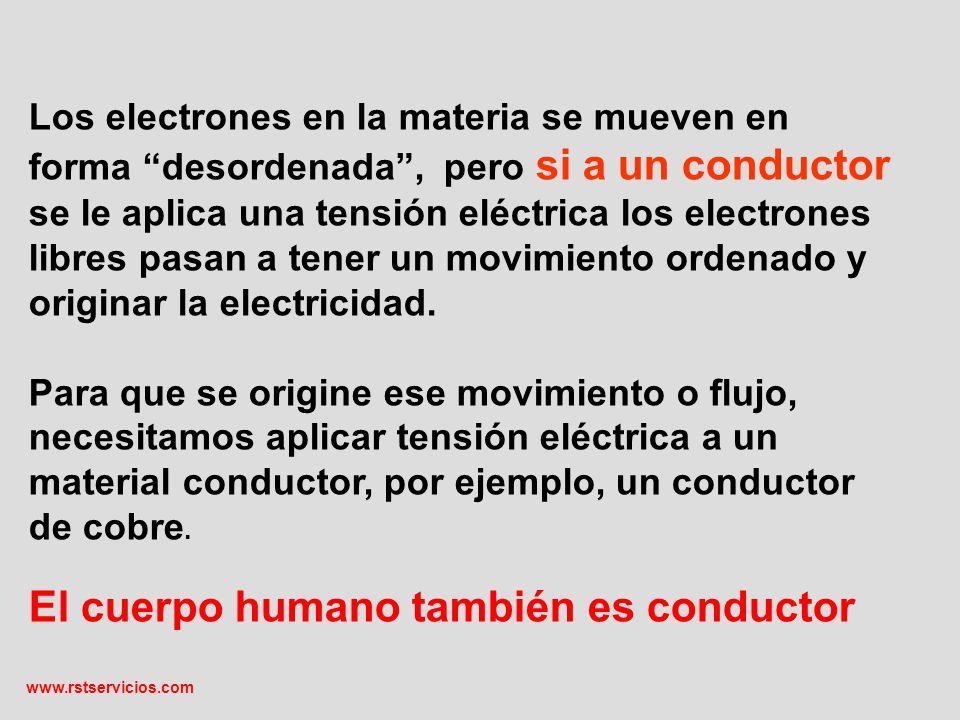 www.rstservicios.com Los conductores eléctricos serían como un caño que se adapta a un mayor diámetro a medida que se le exige mayor corriente.