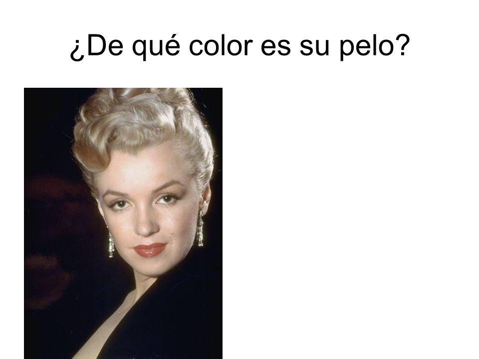 ¿De qué color es su pelo