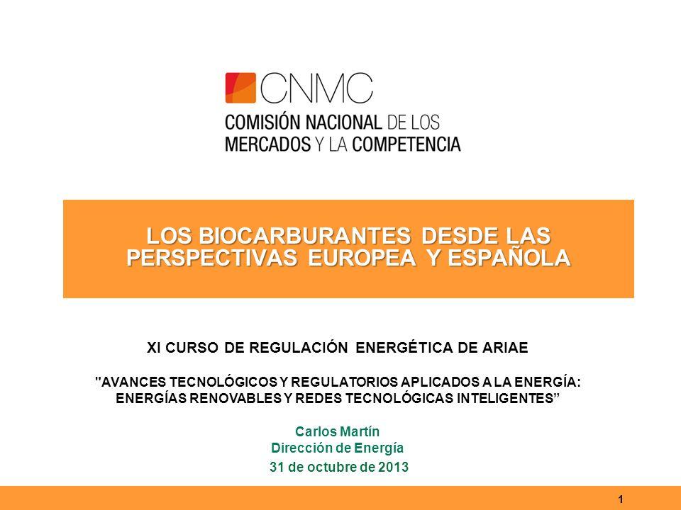 2 Índice Biocarburantes y política energética en la UE Los biocarburantes en España (SICBIOS) Los resultados de los 4 primeros años de SICBIOS Los retos de los biocarburantes en la UE Conclusiones