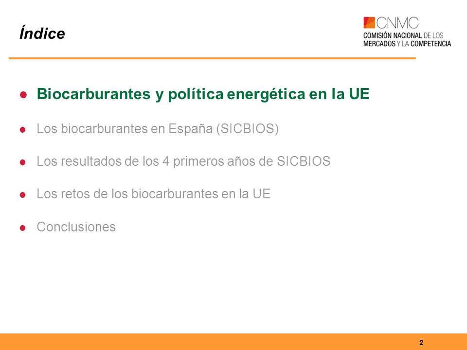 13 Índice Biocarburantes y política energética en la UE Los biocarburantes en España (SICBIOS) Los resultados de los 4 primeros años de SICBIOS Los retos de los biocarburantes en la UE Conclusiones