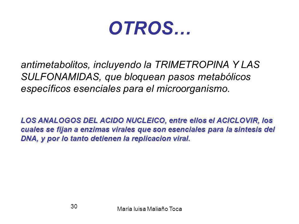 María luisa Maliaño Toca 29 3.4.- alteración de la membrana celular Los agentes que actúan directamente sobre la membrana celular, afectando su permea