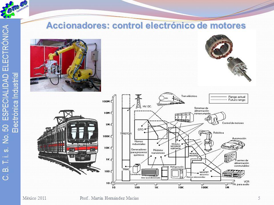 C.B. T. i. s. No. 50 ESPECIALIDAD ELECTRÓNICA Electrónica Industrial México 2008Prof..