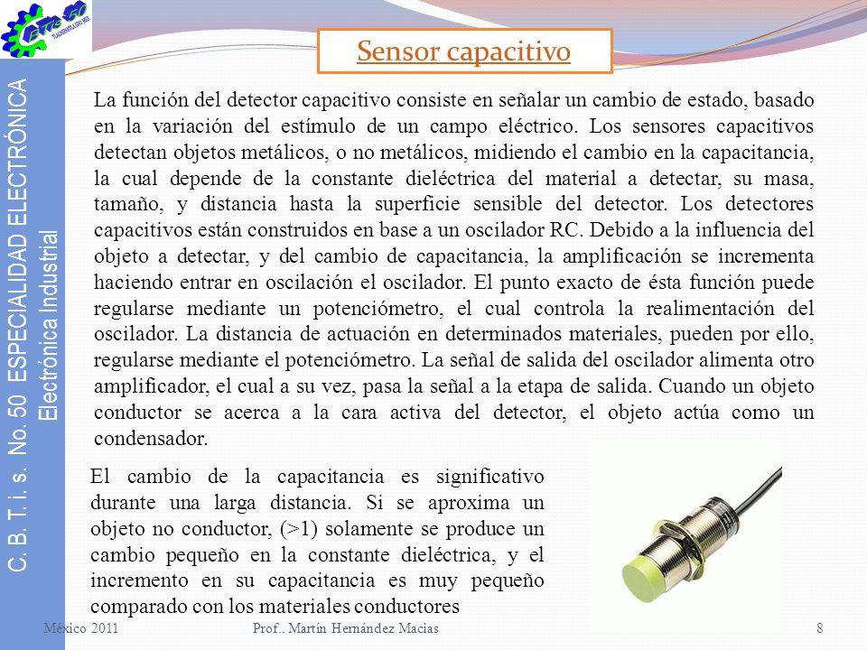 C.B. T. i. s. No. 50 ESPECIALIDAD ELECTRÓNICA Electrónica Industrial México 2011Prof..