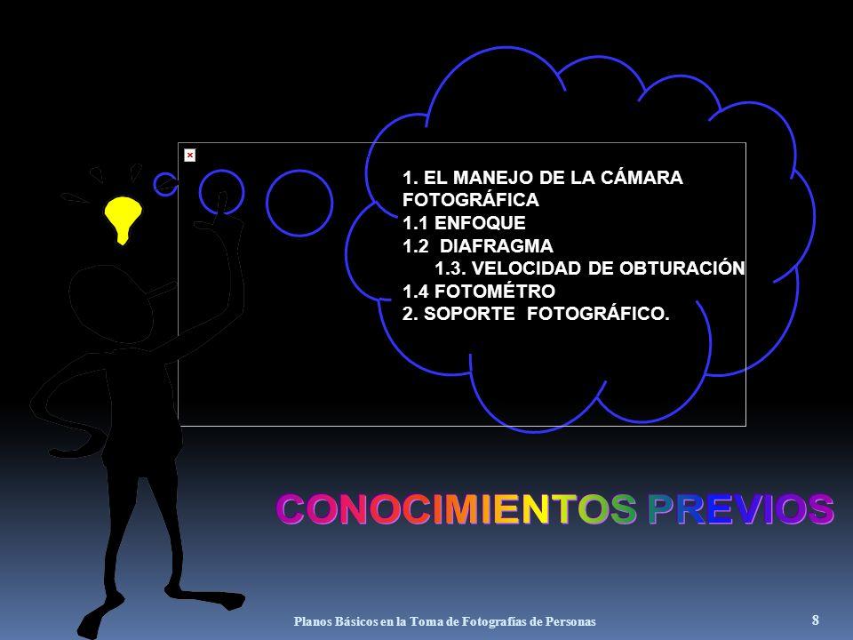 7 En fotografía, igual que en cine, se habla del plano cuando se quiere expresar la proporción que tiene el tema dentro del encuadre, los cuales en gr