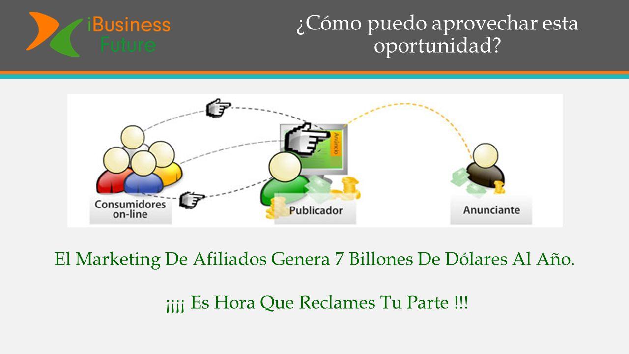 ¿Cómo puedo aprovechar esta oportunidad? El Marketing De Afiliados Genera 7 Billones De Dólares Al Año. ¡¡¡¡ Es Hora Que Reclames Tu Parte !!!
