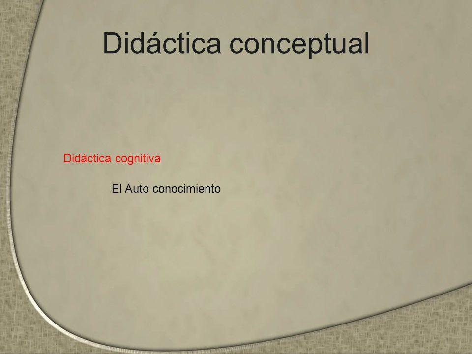 Didáctica conceptual Didáctica cognitiva El Auto conocimiento