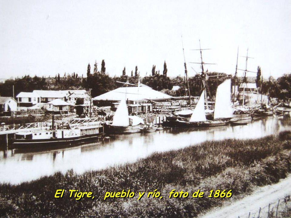 El Tigre, pueblo y río, foto de 1866