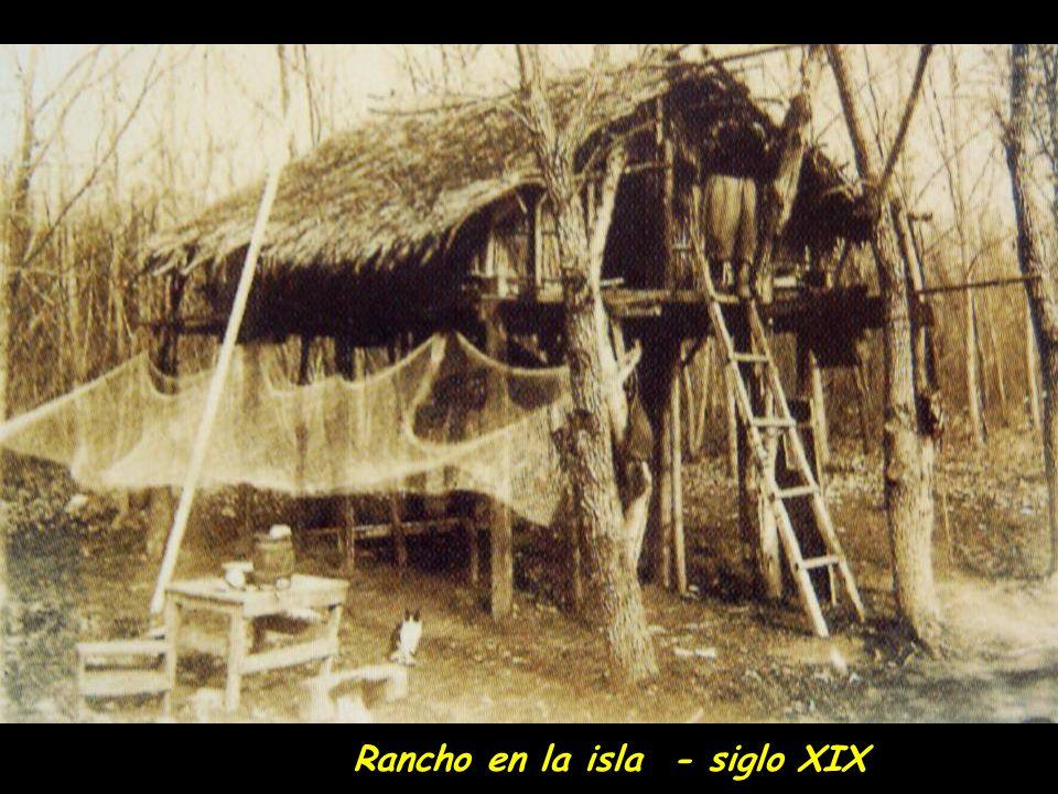 Rancho en la isla - siglo XIX