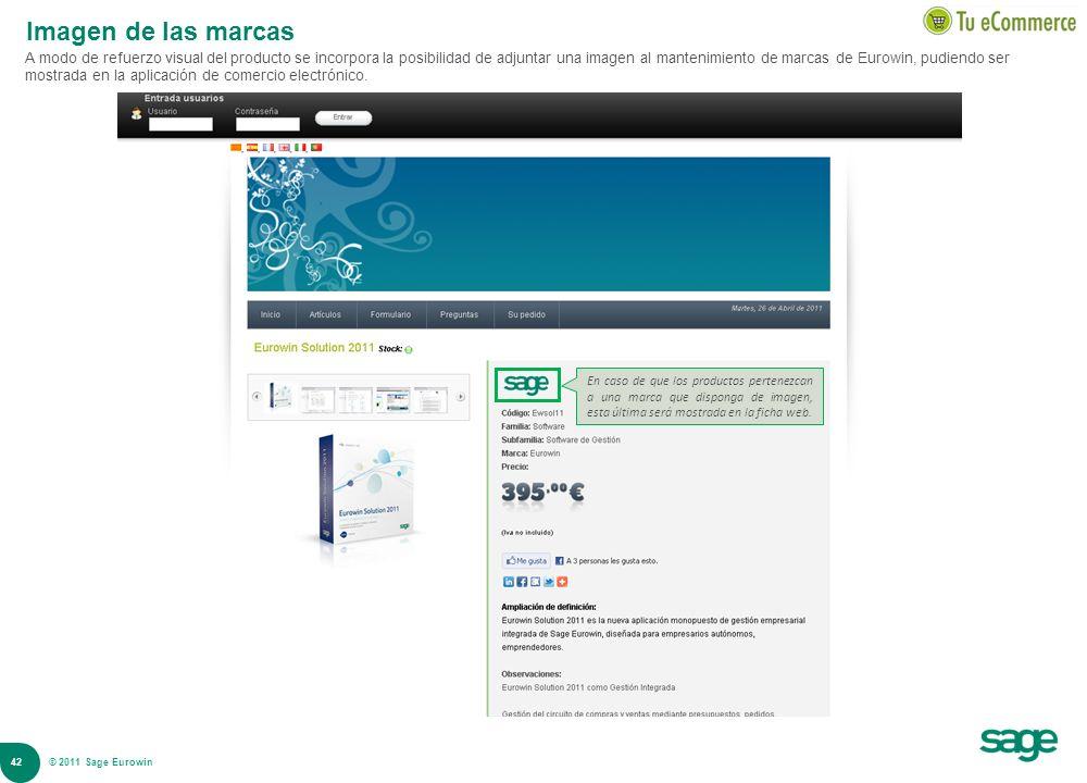 42 © 2008 Sage Imagen de las marcas A modo de refuerzo visual del producto se incorpora la posibilidad de adjuntar una imagen al mantenimiento de marc
