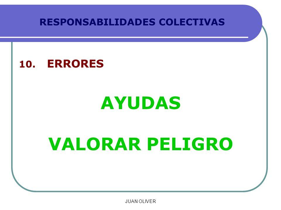 RESPONSABILIDADES COLECTIVAS 10. ERRORES AYUDAS VALORAR PELIGRO