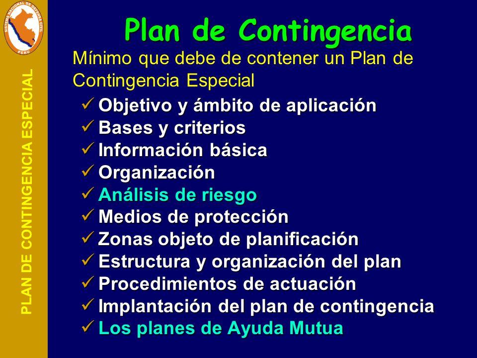 PLAN DE CONTINGENCIA ESPECIAL Plan de Contingencia Objetivo y ámbito de aplicación Objetivo y ámbito de aplicación Bases y criterios Bases y criterios