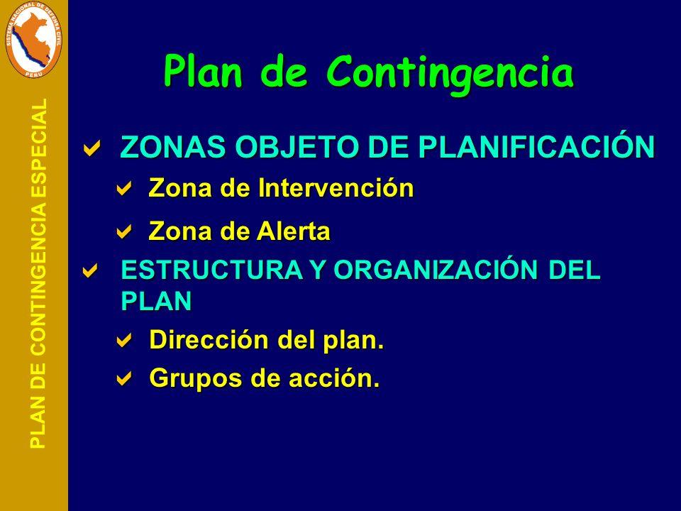 PLAN DE CONTINGENCIA ESPECIAL ZONAS OBJETO DE PLANIFICACIÓN ZONAS OBJETO DE PLANIFICACIÓN Zona de Intervención Zona de Intervención Zona de Alerta Zon