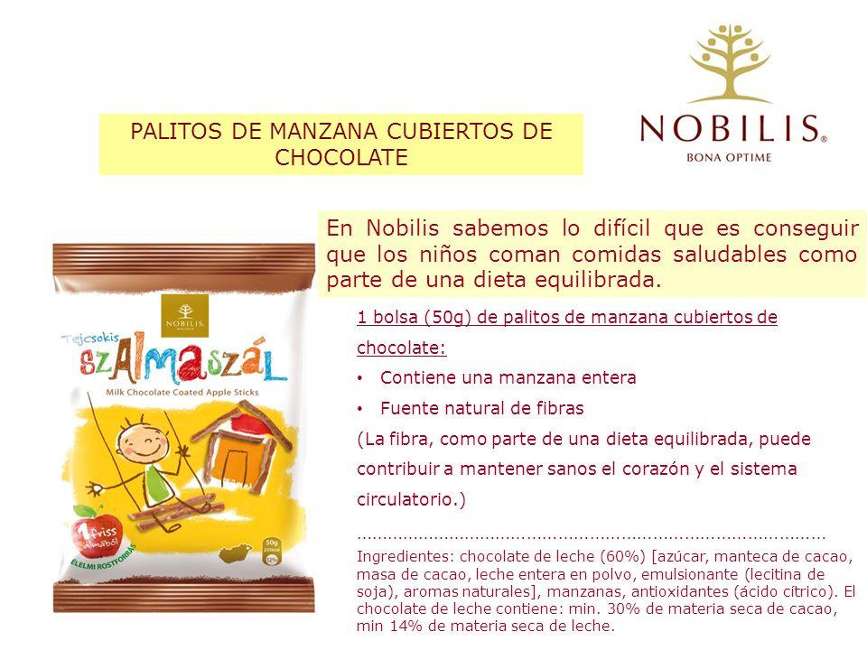 En Nobilis sabemos lo difícil que es conseguir que los niños coman comidas saludables como parte de una dieta equilibrada. 1 bolsa (50g) de palitos de