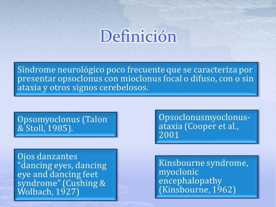 Presentación: Masa abdominal (retroperitoneal o hepática) El dolor abdominal o estreñimiento Proptosis Periorbitario equimosis Síndrome de Horner Lumbago.