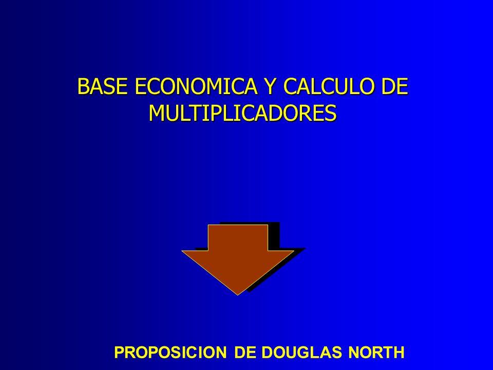 PROPOSICION DE DOUGLAS NORTH BASE ECONOMICA Y CALCULO DE MULTIPLICADORES