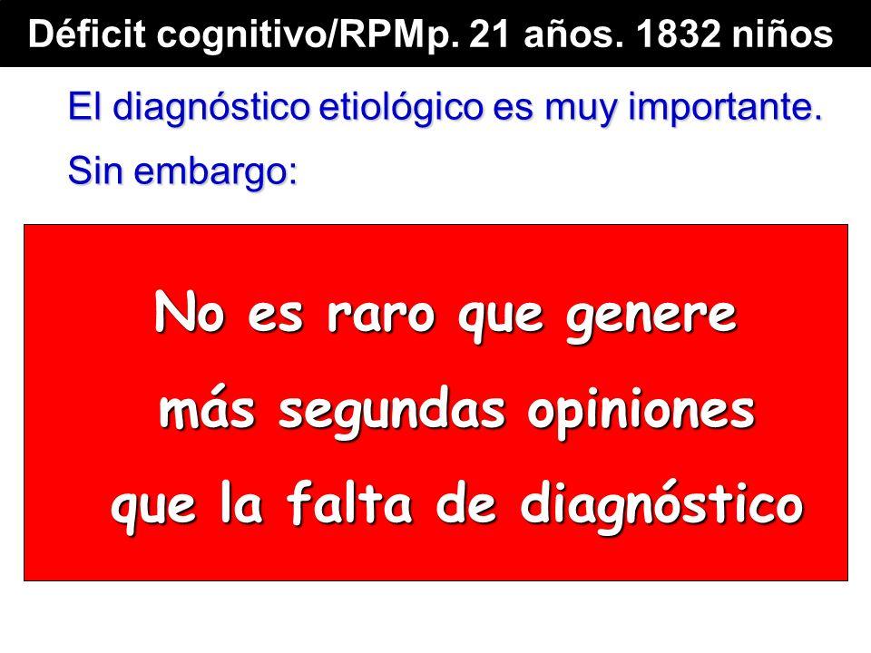 No es raro que genere más segundas opiniones que la falta de diagnóstico El diagnóstico etiológico es muy importante.