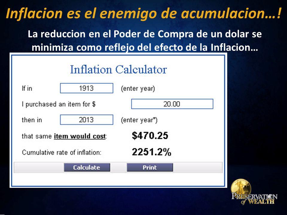 Inflacion es el enemigo de acumulacion….