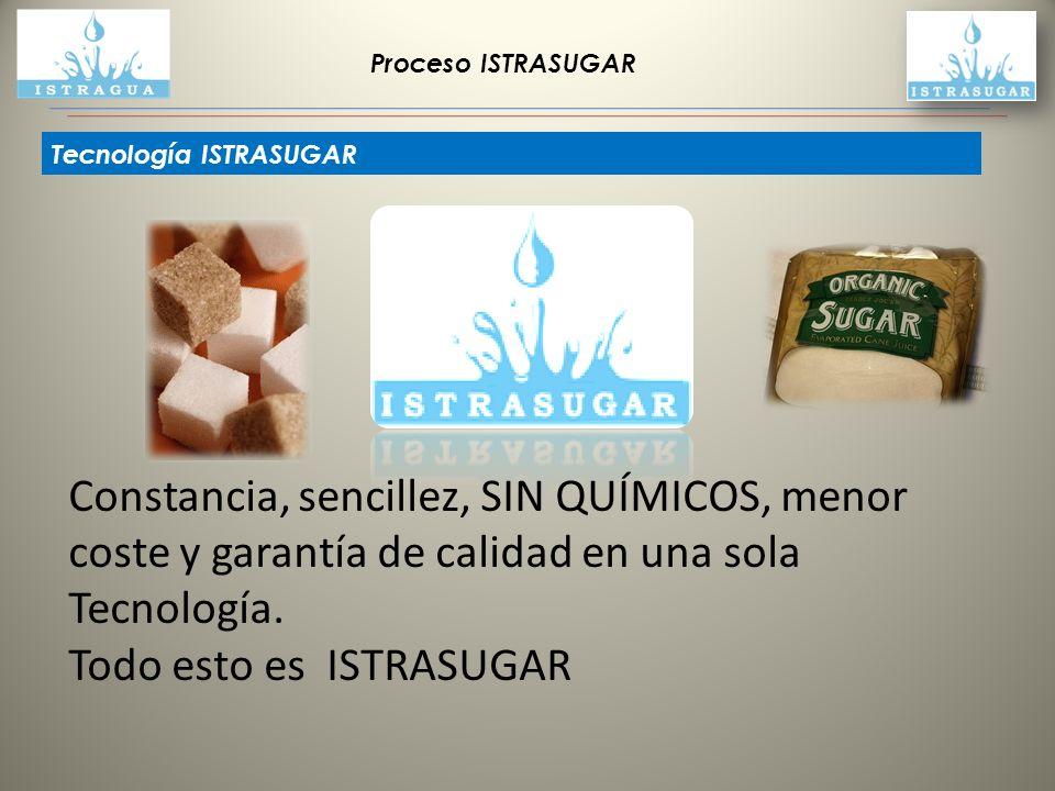 Proceso ISTRASUGAR Tecnología ISTRASUGAR Constancia, sencillez, SIN QUÍMICOS, menor coste y garantía de calidad en una sola Tecnología. Todo esto es I
