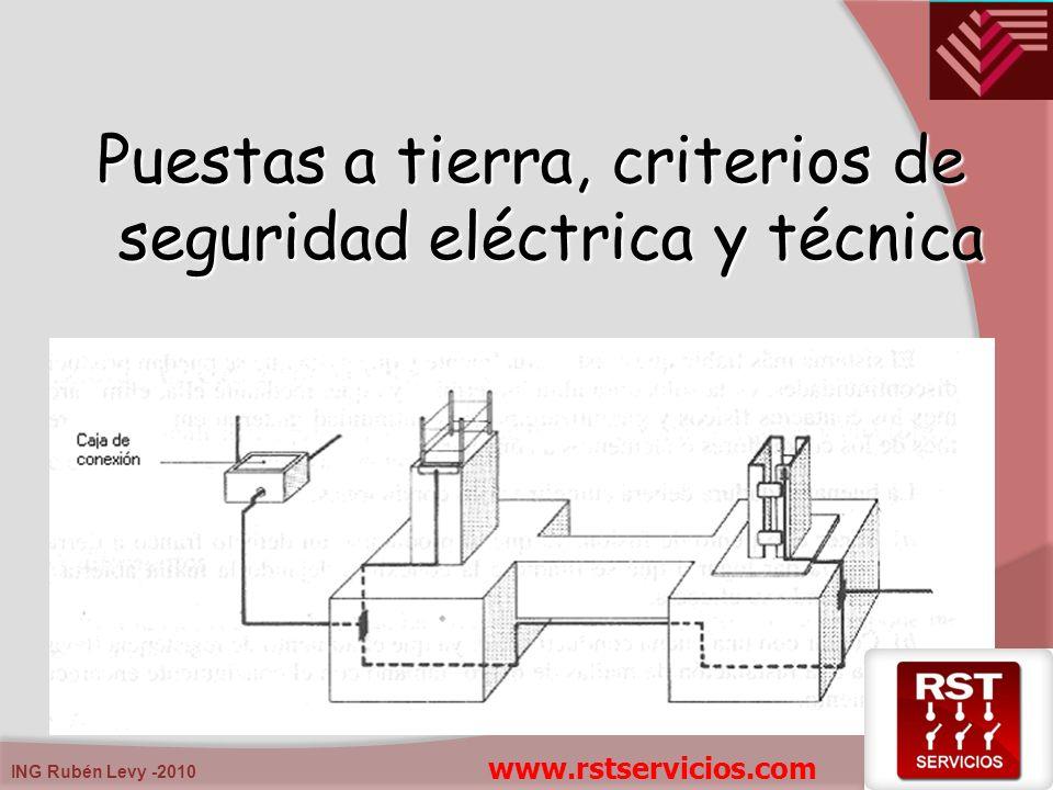 ING Rubén Levy -2010 Puestas a tierra, criterios de seguridad eléctrica y técnica www.rstservicios.com