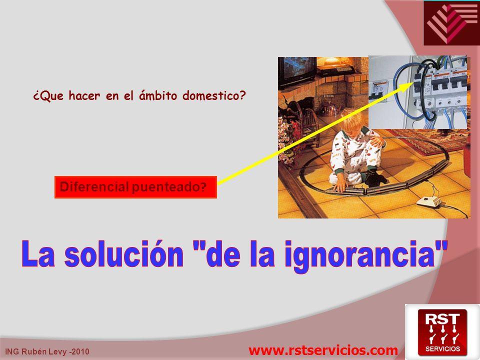 ¿Que hacer en el ámbito domestico? Diferencial puenteado ? www.rstservicios.com