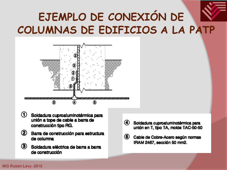 ING Rubén Levy -2010 EJEMPLO DE CONEXIÓN DE COLUMNAS DE EDIFICIOS A LA PATP