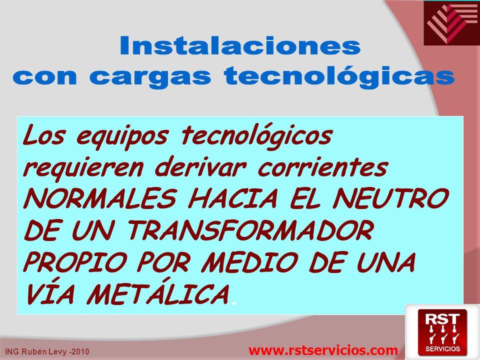 ING Rubén Levy -2010 Los equipos tecnológicos requieren derivar corrientes NORMALES HACIA EL NEUTRO DE UN TRANSFORMADOR PROPIO POR MEDIO DE UNA VÍA ME