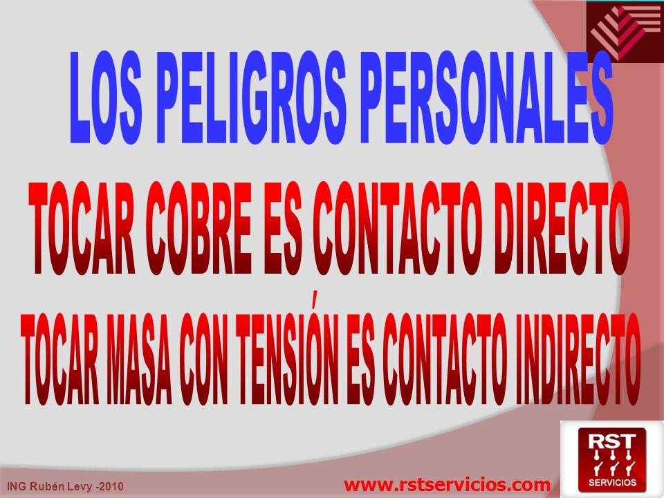 ING Rubén Levy -2010 Contacto directo: Contacto con partes activas (cobre). www.rstservicios.com