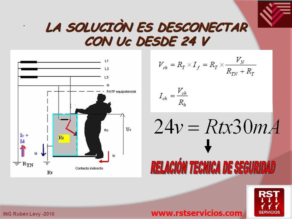 ING Rubén Levy -2010. LA SOLUCIÒN ES DESCONECTAR CON Uc DESDE 24 V www.rstservicios.com