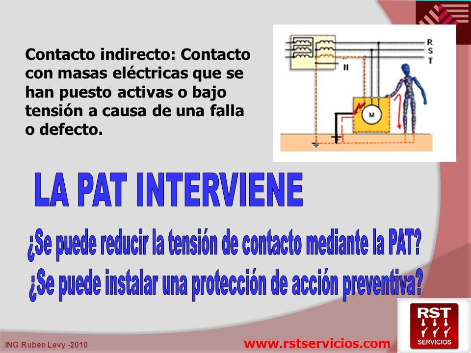ING Rubén Levy -2010 Tensión residual aproximada (descargador modelo 12 kV) = 30 kV Caída de tensión de conexión en 5 m de conductor de conexión con 5 m x 5 kV/m = 25 kV Caída de tensión en resistencia de puesta a tierra de 10 ohm con corriente de descarga de 10 kA, resulta 10 ohm x 10 kA = 100 kV Tensión resultante total fase-cuba = 30 kV + 25 kV + 100 kV = 155 kV > 95 kV (BIL)