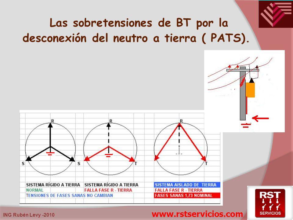 ING Rubén Levy -2010 Las sobretensiones de BT por la desconexión del neutro a tierra ( PATS). www.rstservicios.com