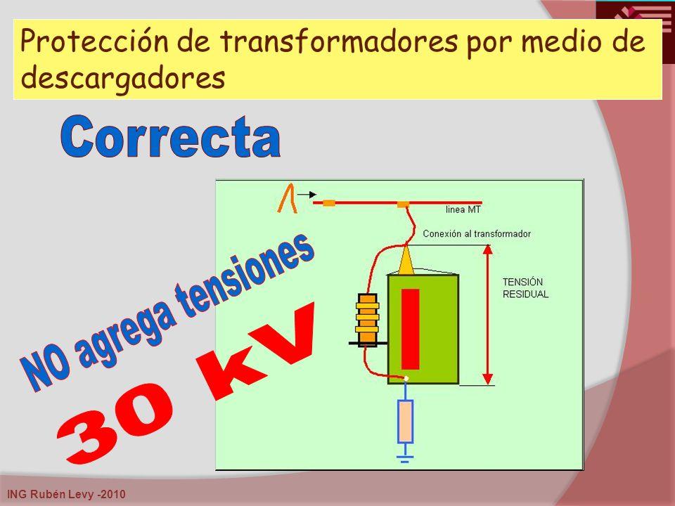ING Rubén Levy -2010 Protección de transformadores por medio de descargadores