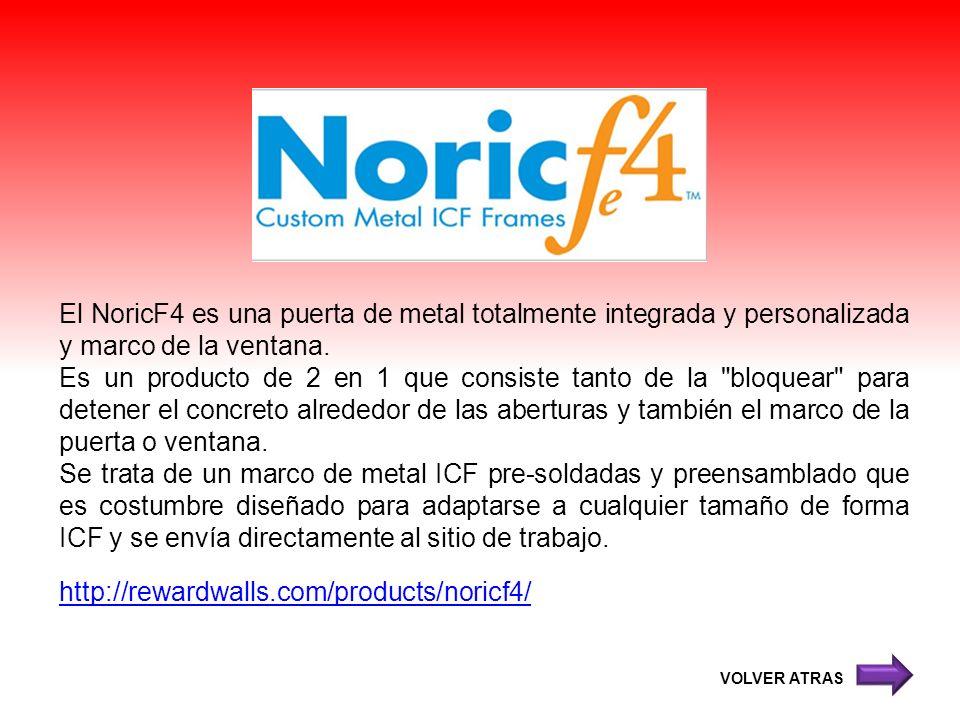 El NoricF4 es una puerta de metal totalmente integrada y personalizada y marco de la ventana. Es un producto de 2 en 1 que consiste tanto de la