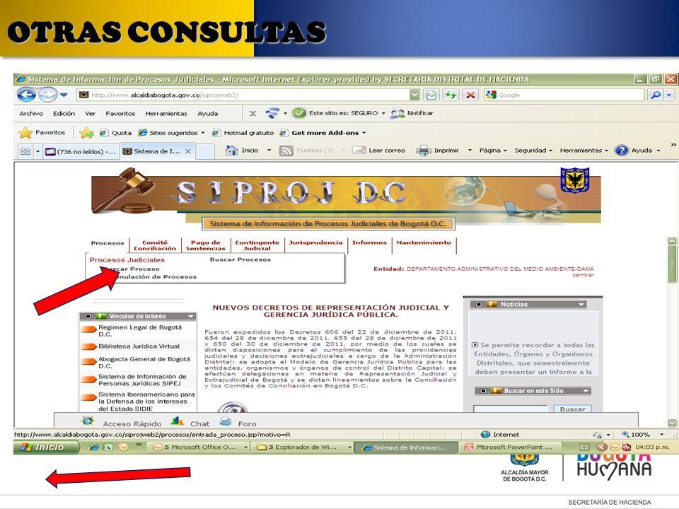 OTRAS CONSULTAS