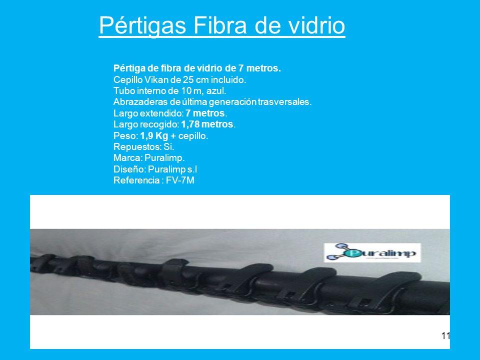 Pértigas Fibra de vidrio Pértiga de fibra de vidrio de 7 metros.