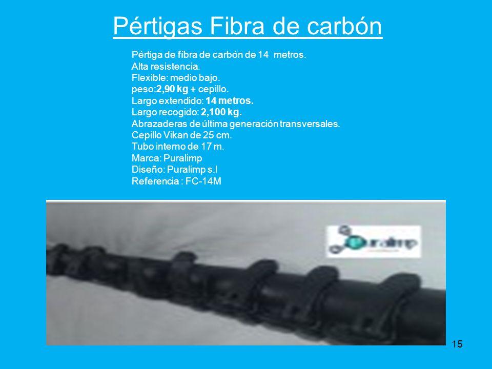 Pértigas Fibra de carbón Pértiga de fíbra de carbón de 14 metros.