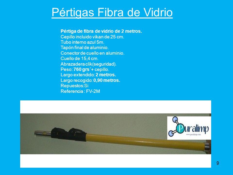 Pértigas Fibra de Vidrio Pértiga de fibra de vidrio de 2 metros.