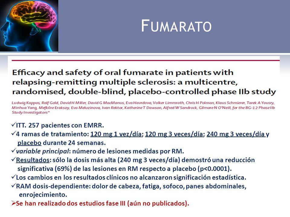 F UMARATO Formulación oral de dimetilfumarato compuesto (BG00012).