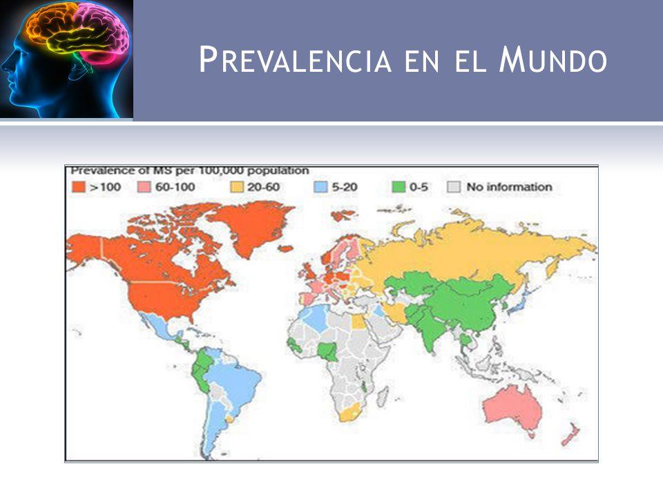 P REVALENCIA EN EL M UNDO